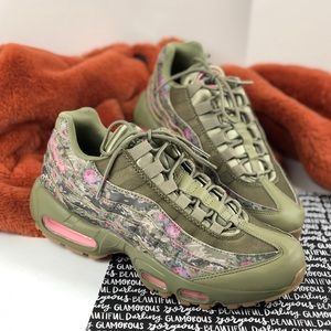 Nike Air Max floral camo shoes sneakers 8.5 AQ6385